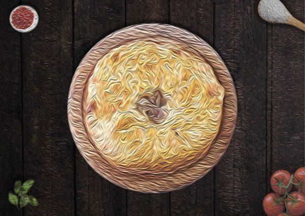 Пирог с фасолью Лобиани